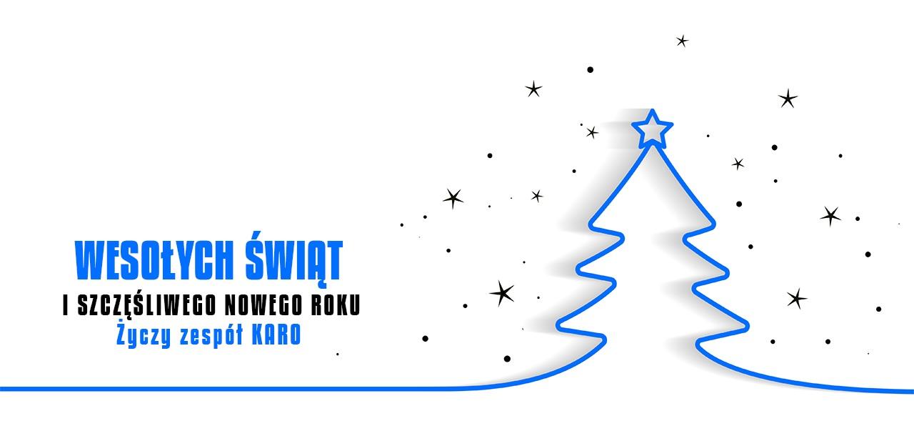 Wesołych Świąt oraz Szczęśliwego Nowego Roku 2019 życzy zespół KARO.pc.pl
